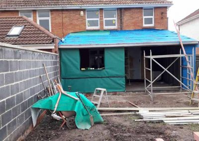 extension being built